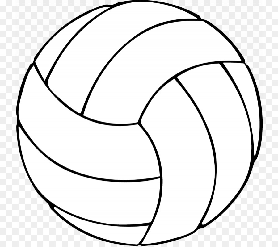 Volleyball Coloring Book Sport Clip Art   Black And White Volleyball