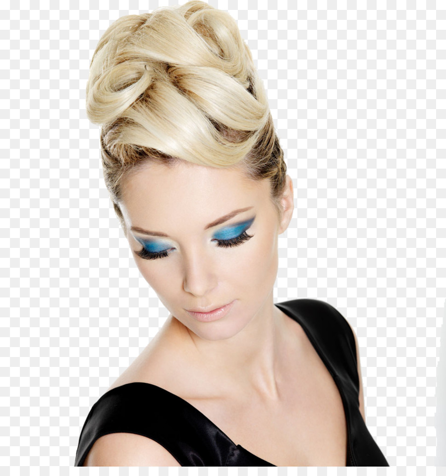 Hairstyle Model Makeover Cosmetics Fashion Flaxen Hair Model Png