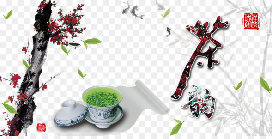 Green tea Poster - Tea Tea and Chinese style material png download