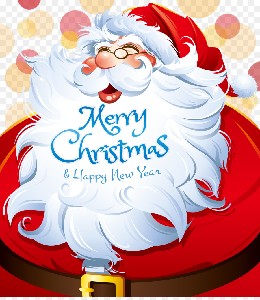 Santa Claus Christmas Icon - Santa Claus and his beard png download ...