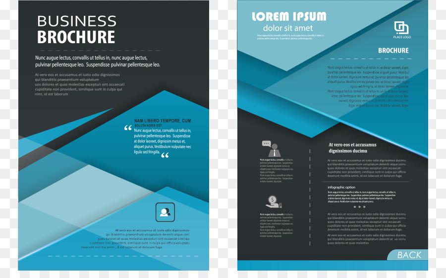 Flyer Pamphlet Template - Vector Blue Dream leaflets png download ...