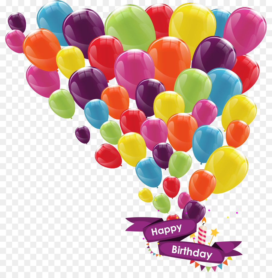 Balloon Birthday Greeting Card Ribbon