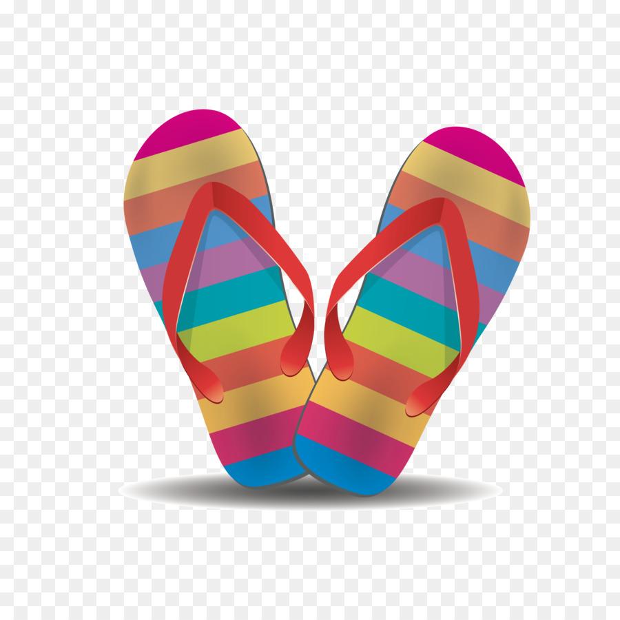 70825971ae230 Flip-flops Shoe Clip art - Color stripe beach sandals png download -  3750 3750 - Free Transparent Flipflops png Download.
