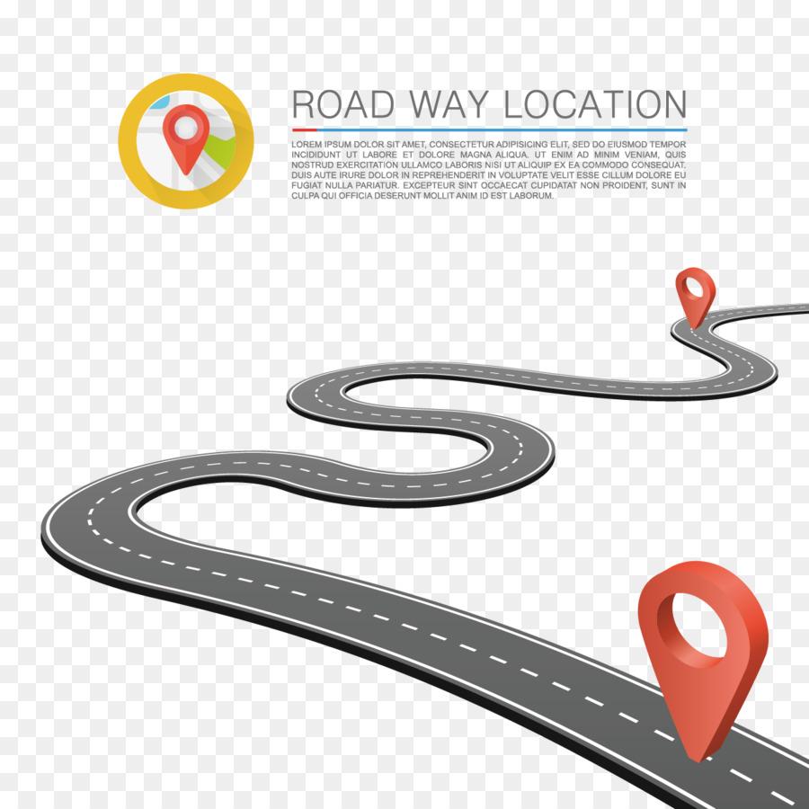 road royalty-free illustration