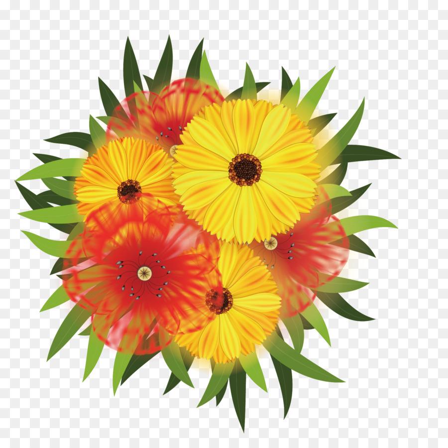 Flower Bouquet Chrysanthemum Clip Art Vector Beautiful