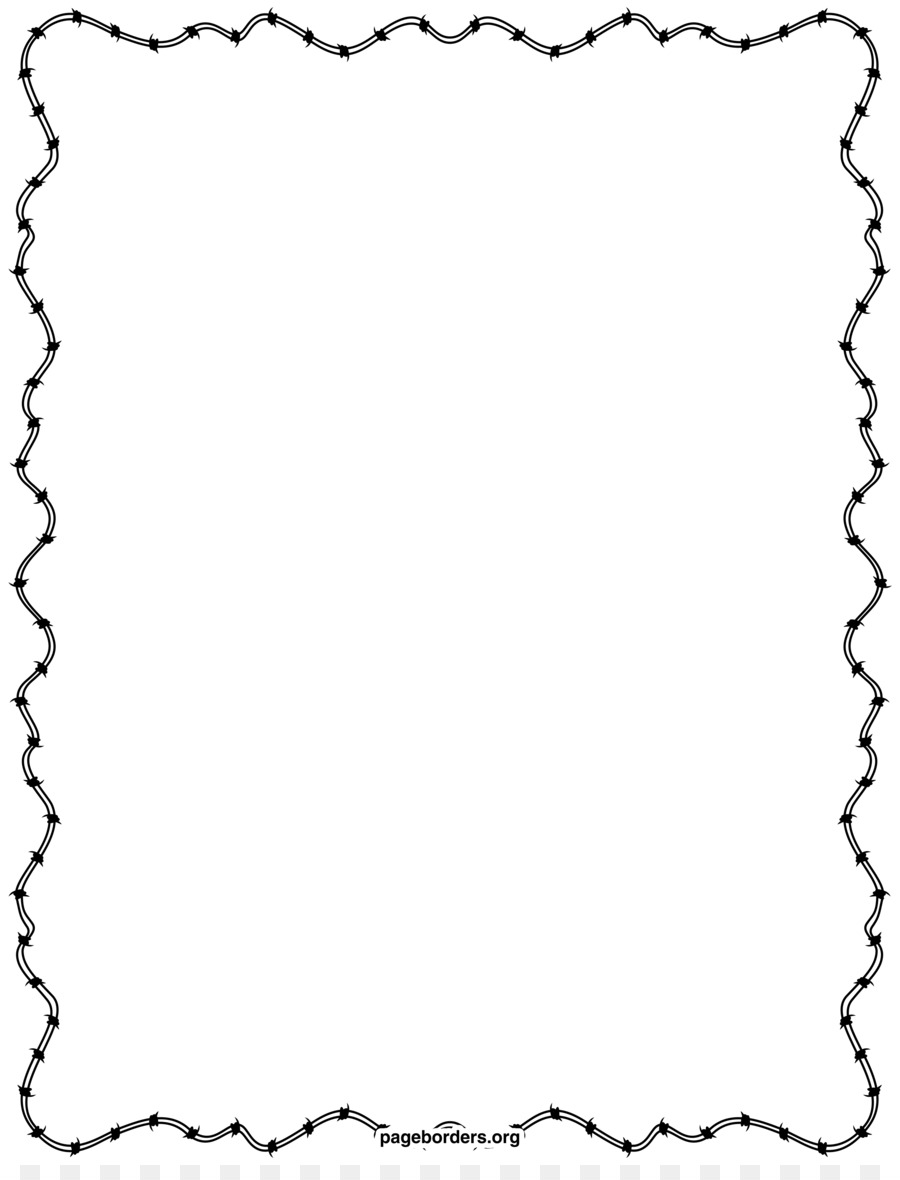 Barbed wire Clip art - Barbwire Border png download - 2550*3300 ...