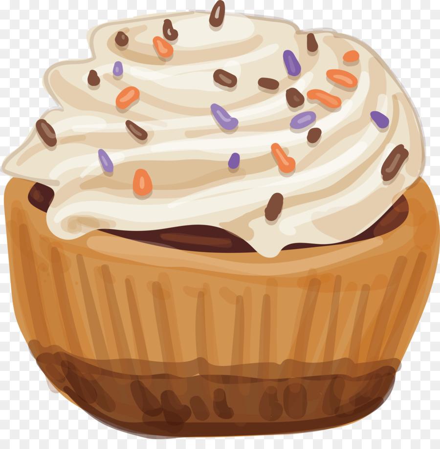 Cupcake A La Creme Peinture A L Aquarelle Aquarelle Cake Design
