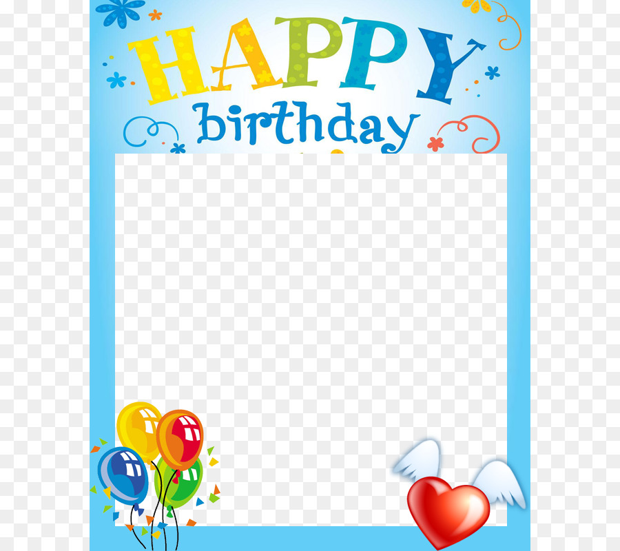 Birthday cake Happy Birthday Card! Picture frame Clip art - Birthday ...