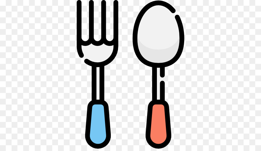 Sendok Garpu Makan Makan Kartun Sendok Garpu Unduh Garis Garpu
