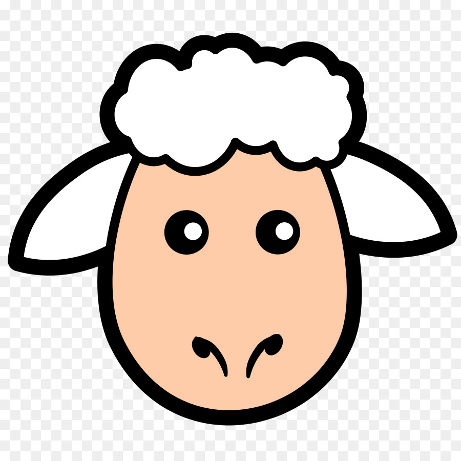 Sheep lamb and mutton face clip art simple sheep cliparts png download 900 900 free - Clipart visage ...