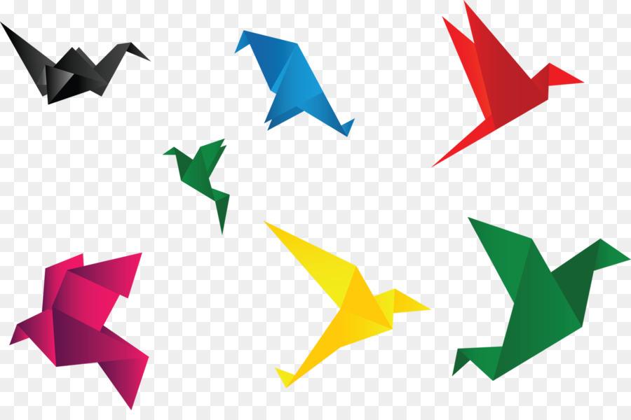 Crane Bird Paper Origami Icon Origamipaper Cranescolor Paper
