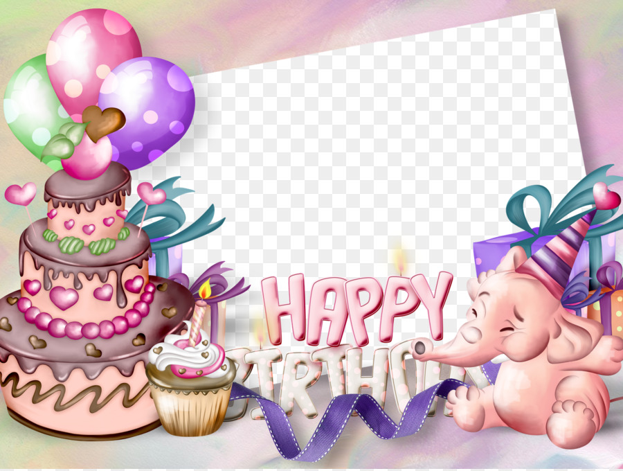 Birthday Cake Picture Frame Greeting Card Clip Art Birthday Frames