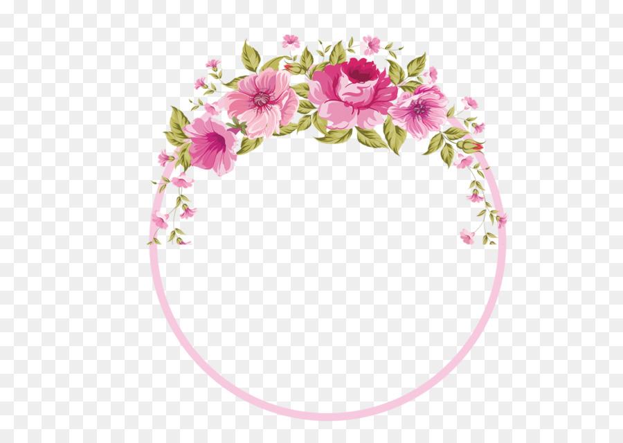 border flowers rose clip art garland border png download