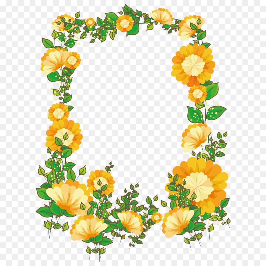 Marco de imagen el diseño Floral de la Flor - Vector pintado a mano ...