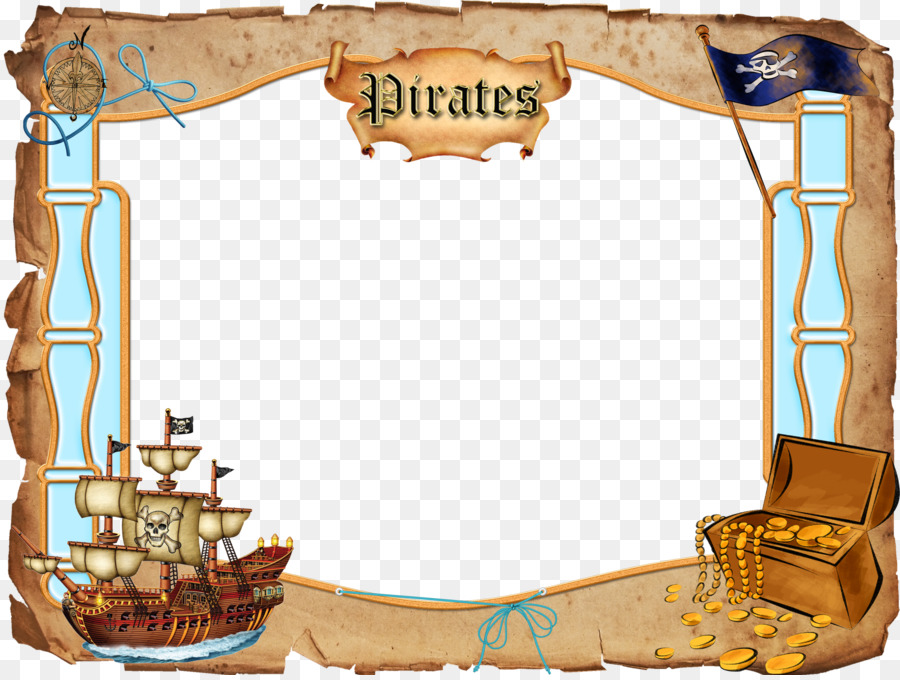 Piracy Picture Frame Clip Art Pirate Frame Cliparts Png