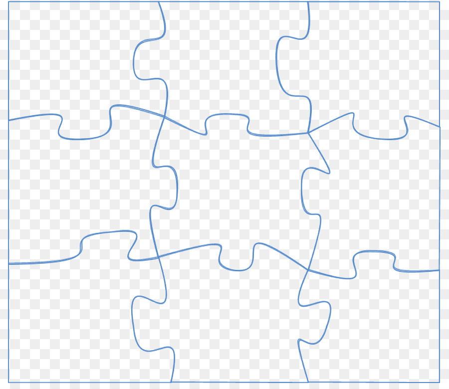 Area Pattern - Large Puzzle Piece Template png download - 871*770 ...