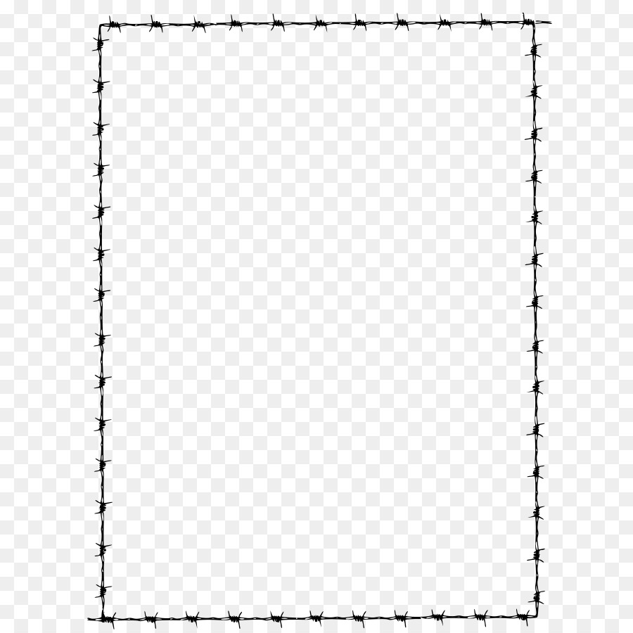 Barbed wire Barbed tape Clip art - Barbwire Border png download ...