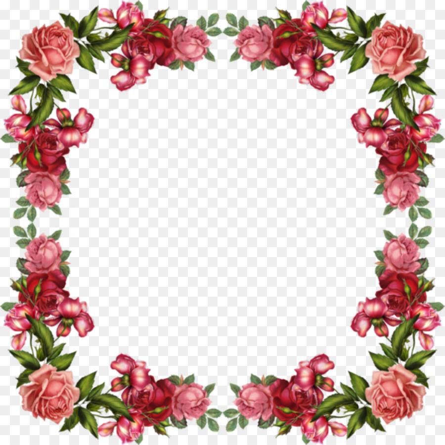 Flower Rose Pink Clip Art Beautiful Borders Png Download 1024
