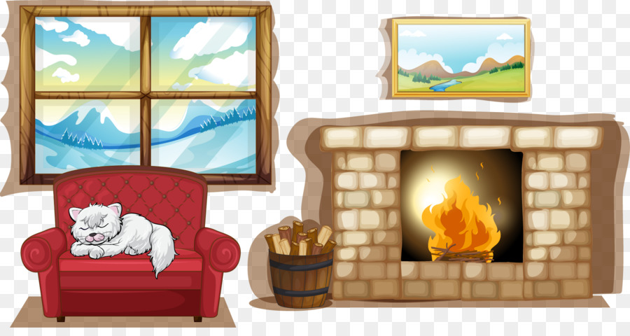 Royalty Free Fireplace Stock Photography Illustration