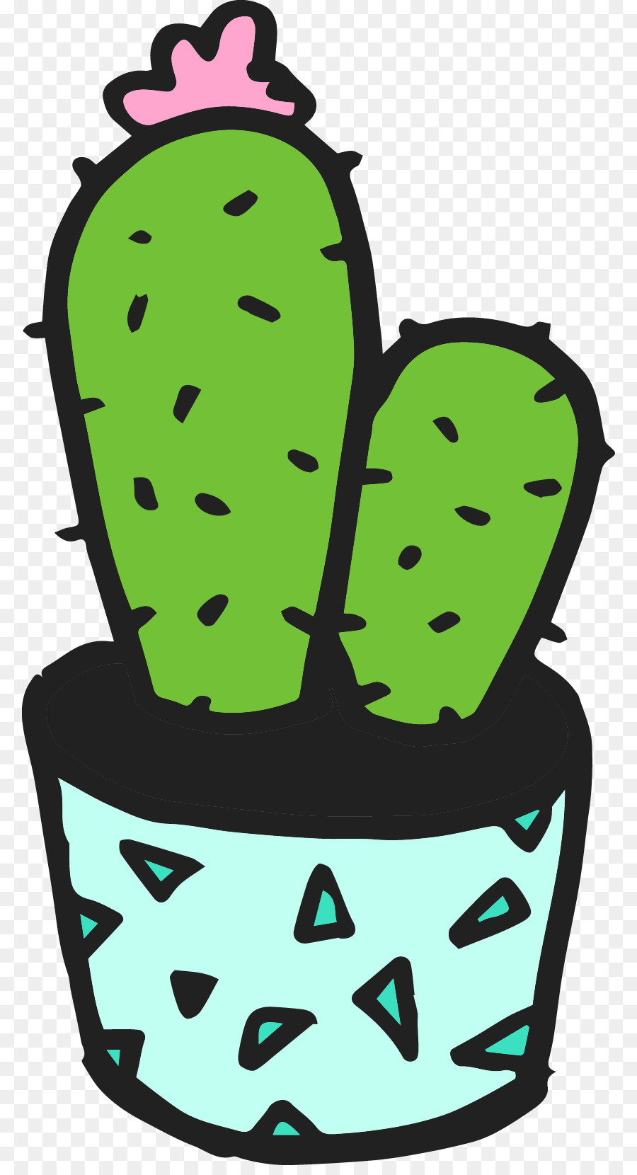 Rubber Stamp Cactaceae Plant Pattern