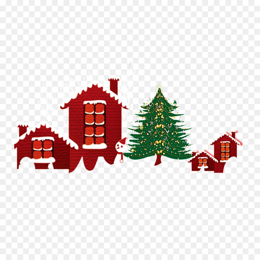 santa clauss reindeer christmas tree christmas ornament snow village