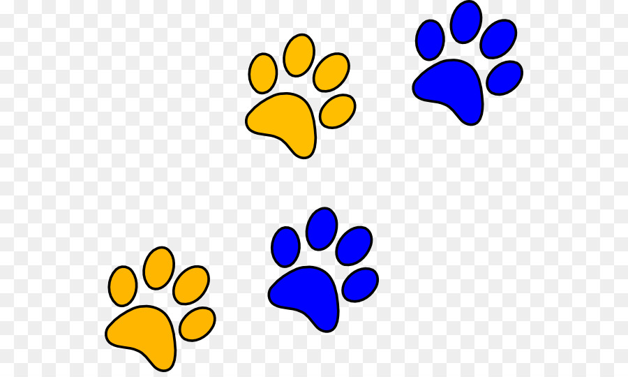 bulldog paw blue clip art panther paw cliparts png download 600 rh kisspng com