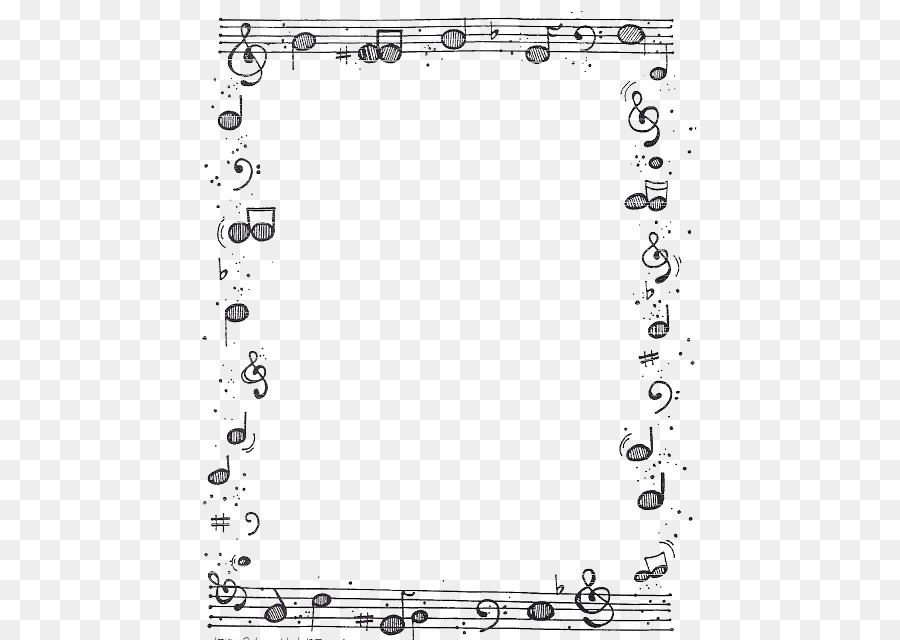 musical note picture frame photography borders notes png