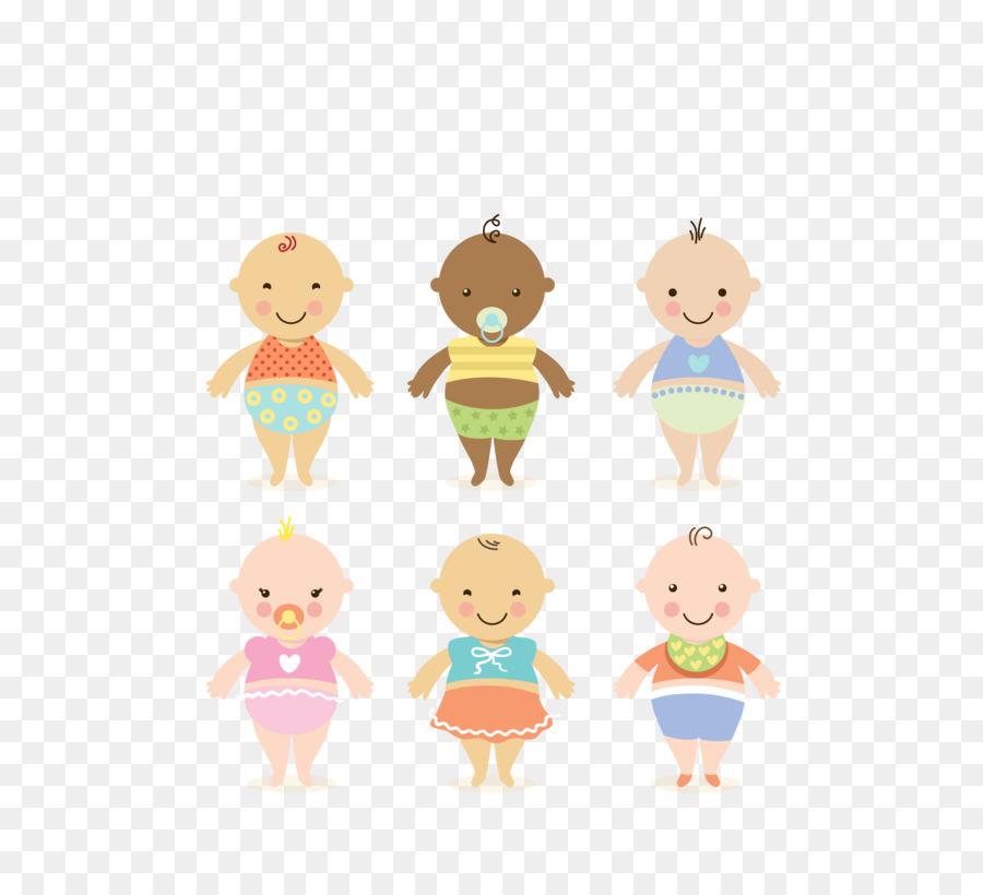 Bebé Adobe Illustrator Niño - Vector de color de dibujos animados ...