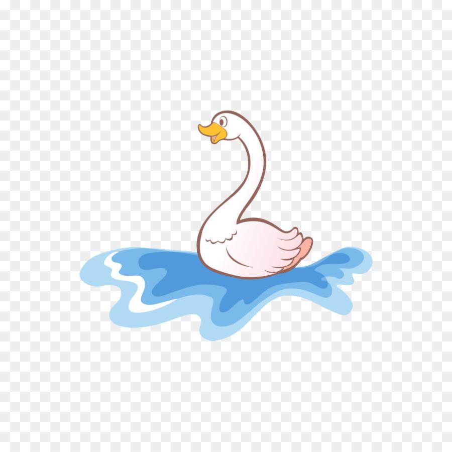 Pato Gallina Nacionales Cygnini De Dibujos Animados De Gran Ganso