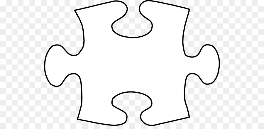 Jigsaw Puzzle Tangram Template Clip Art Large Piece Png 600 430 Free Transpa