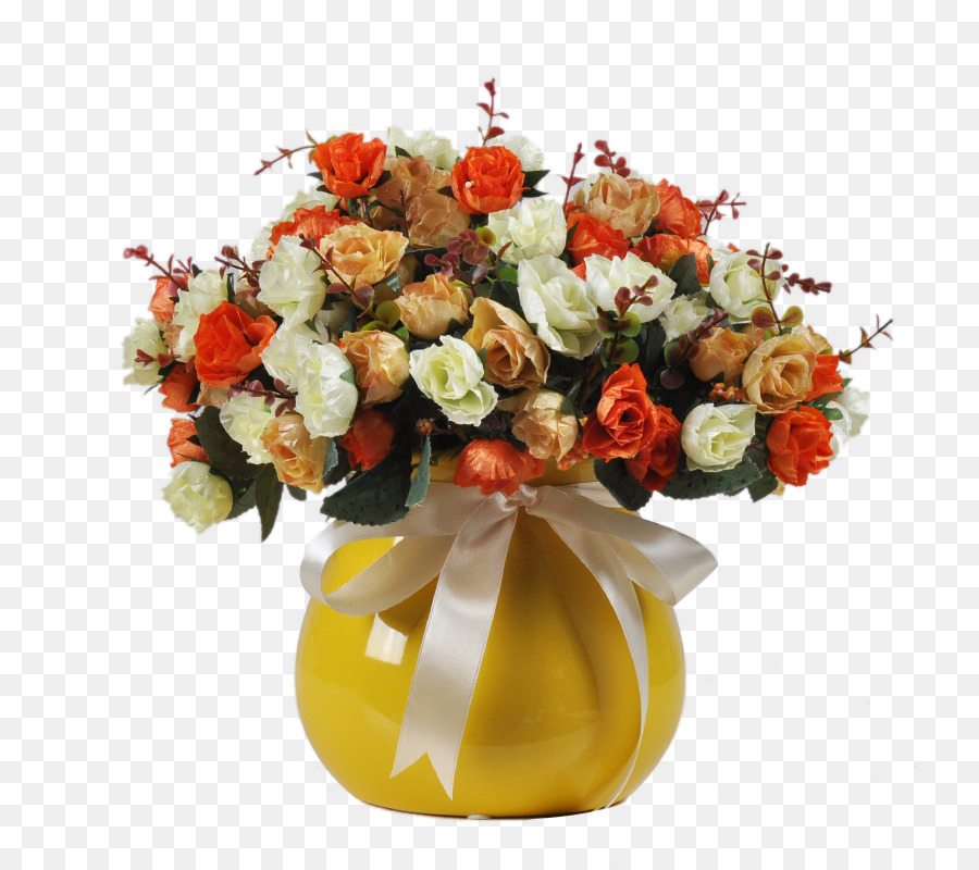 Beach Rose Yellow Vase Flower Red And White Roses In A Yellow Vase