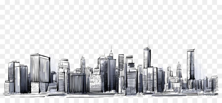 Manhattan Cities Skylines Drawing City 2850 1317