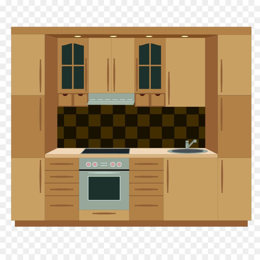 Kitchen cabinet Furniture Clip art - Beautiful kitchen png download ...