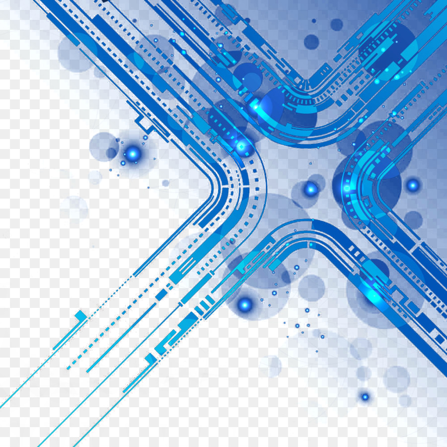 Printed circuit board Technology - Science and Technology Line png ...