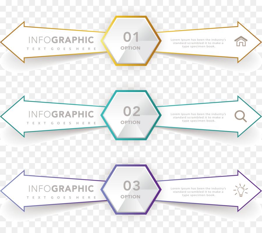 Arrow Diagram Infographic Euclidean Vector Hexagon Left And Right