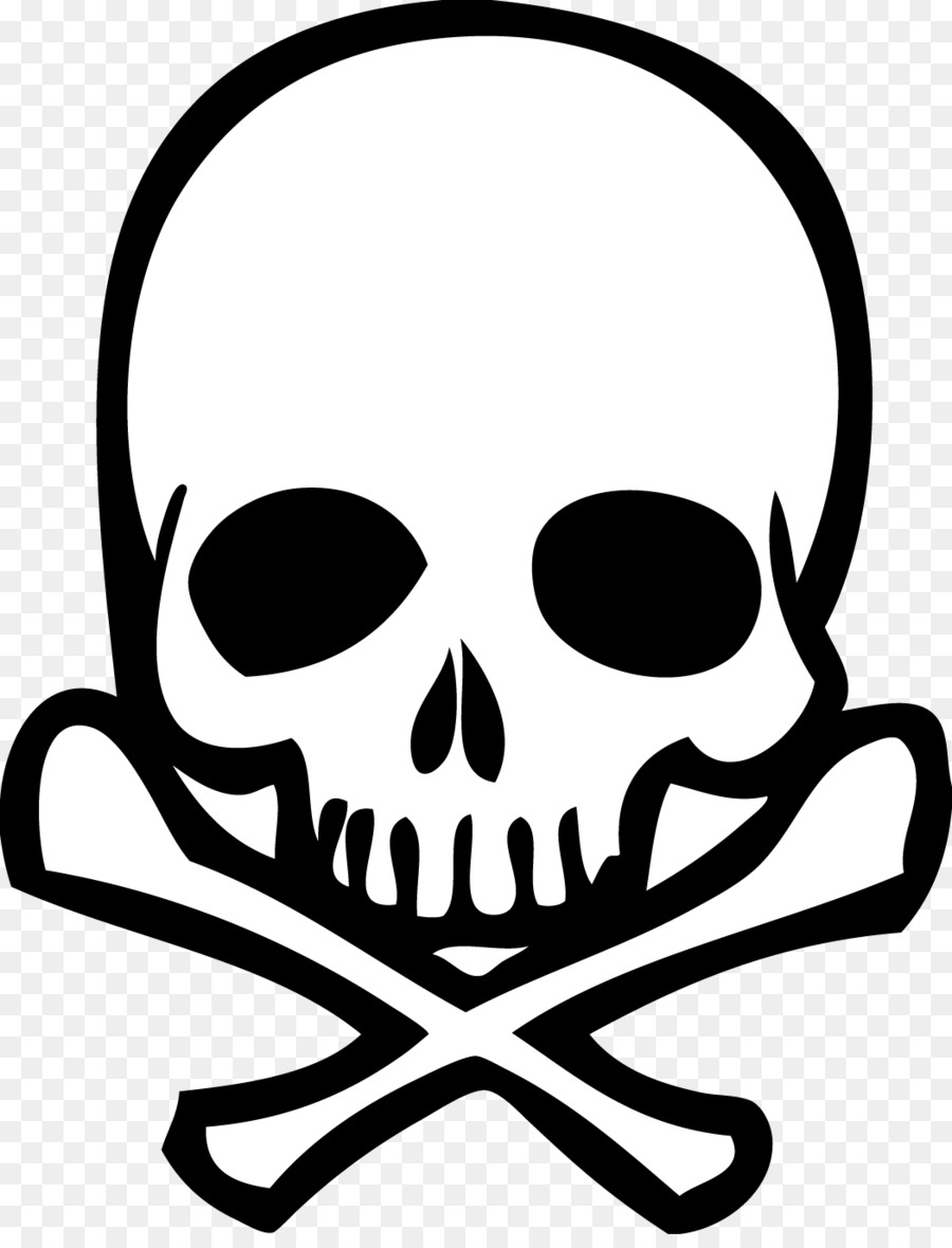 Skull And Crossbones Drawing Human Skull Symbolism Clip Art