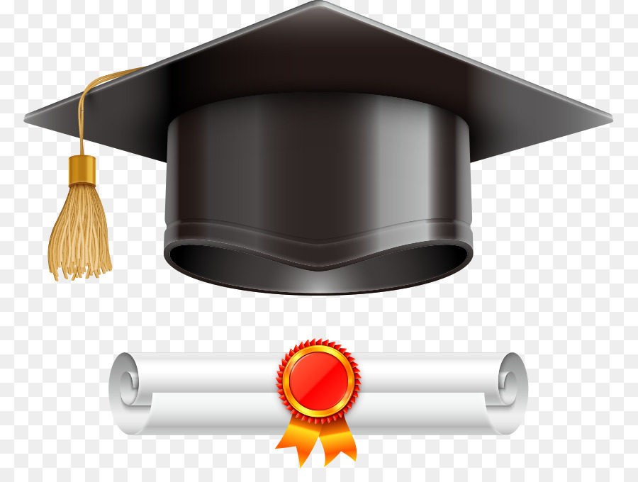 graduation ceremony square academic cap diploma illustration