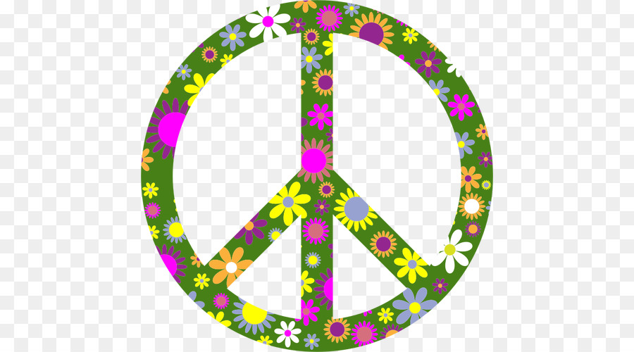 T Shirt Peace Symbols Flower Power Circle Swoop Cliparts Png