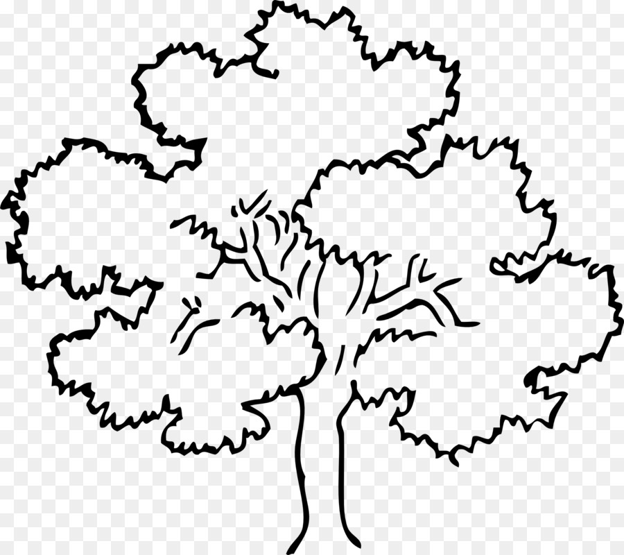 Tree Oak Outline Clip Art