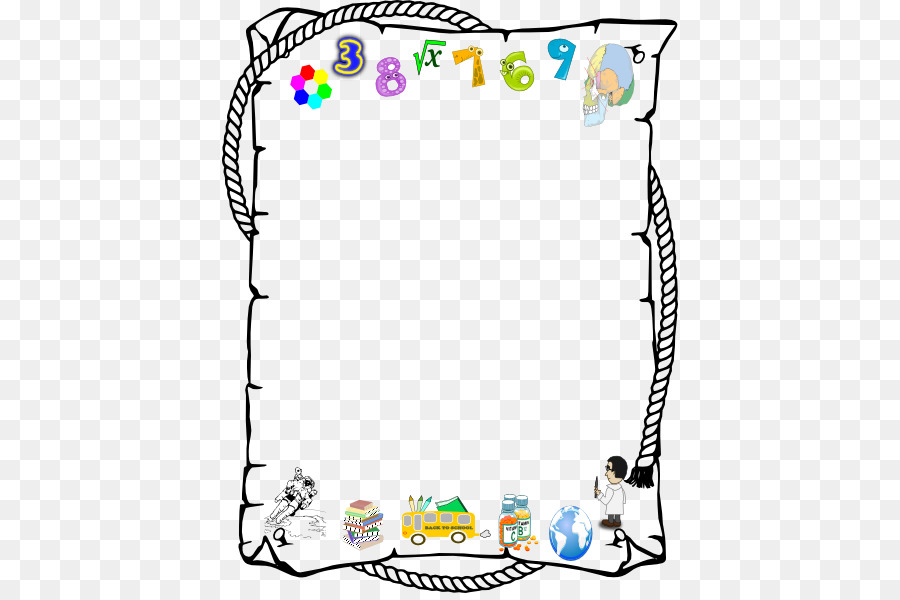 Borders and Frames Number Clip art - Alphabet Border Cliparts png ...