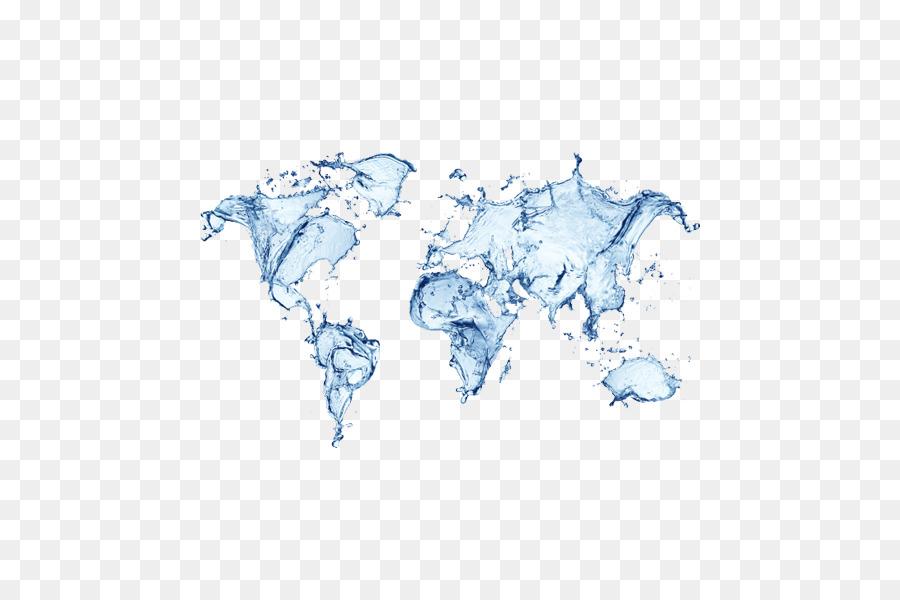 Día Mundial Del Agua Del Mundo Mapa Del Mundo Blue Drops Elemento