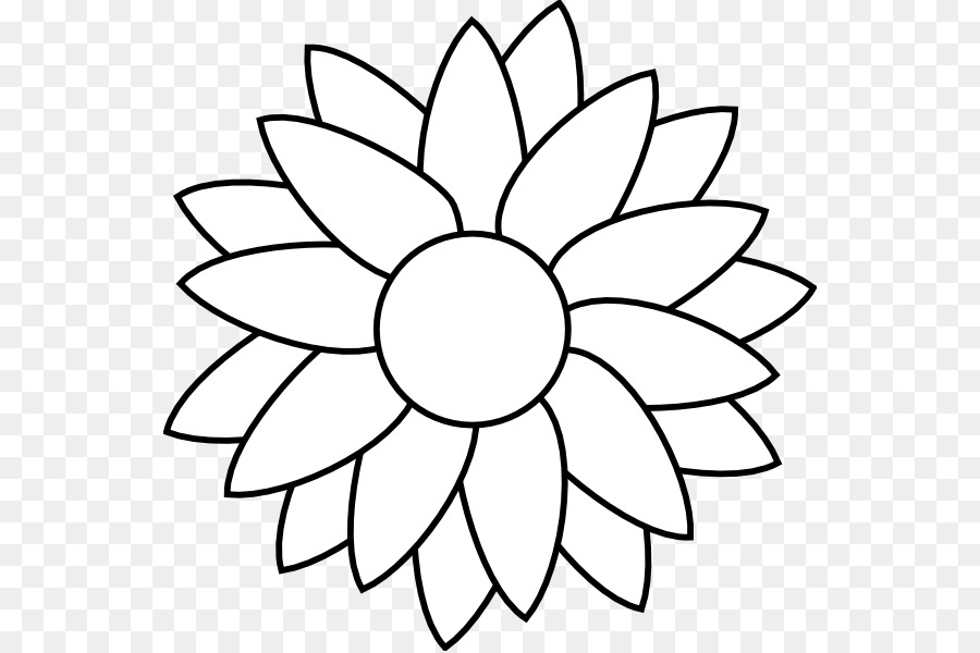 Common Sunflower Black And White Free Content Clip Art Blank