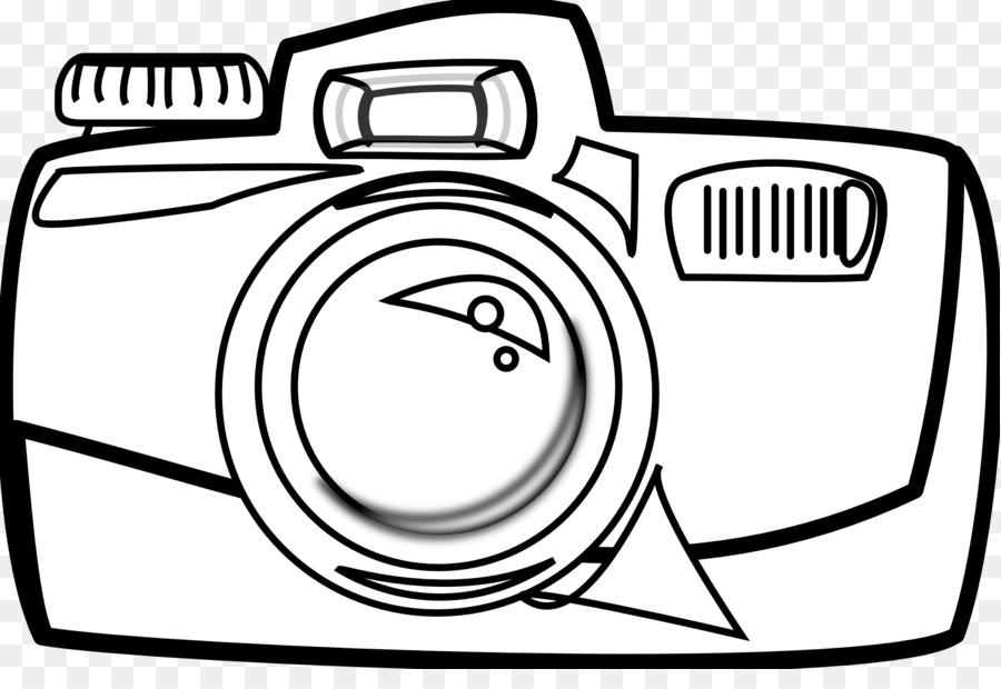 Camera Cartoon Black And White Clip Art