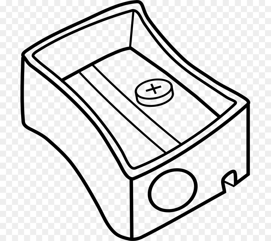 Pencil Sharpener Black And White Clip Art