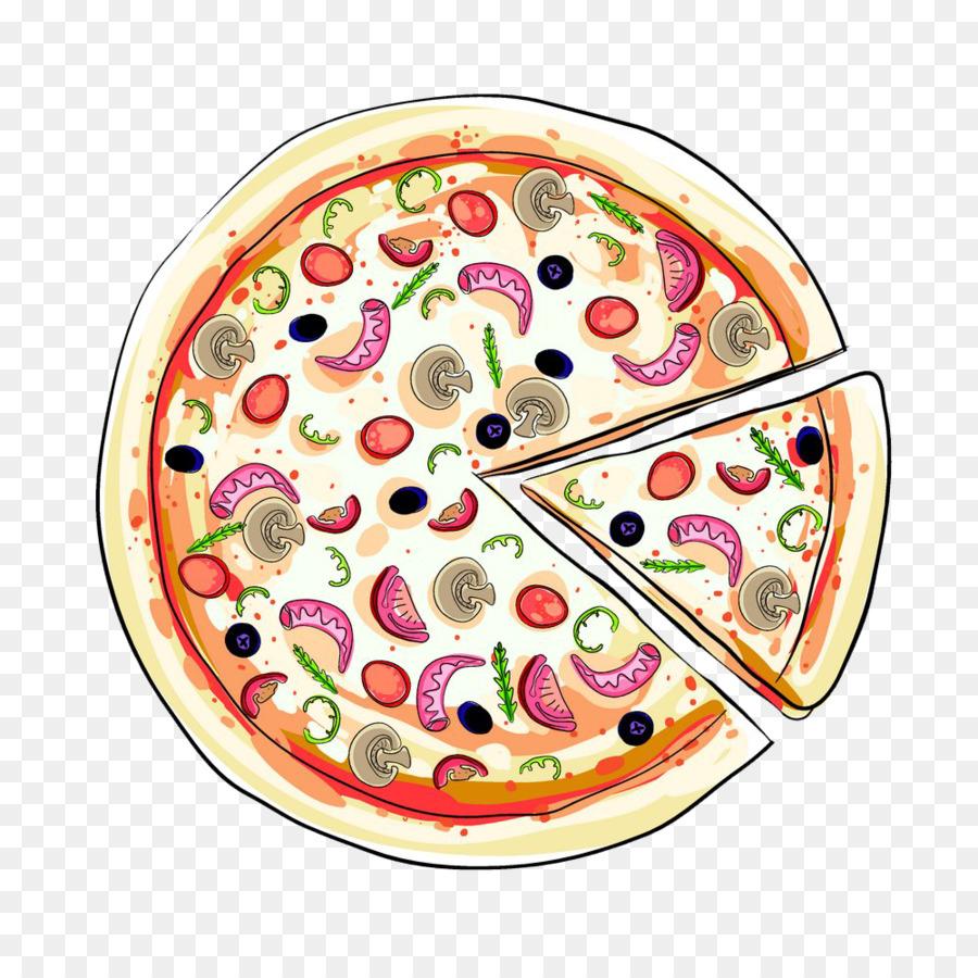 Hamburger Pizza Italian Cuisine Illustration
