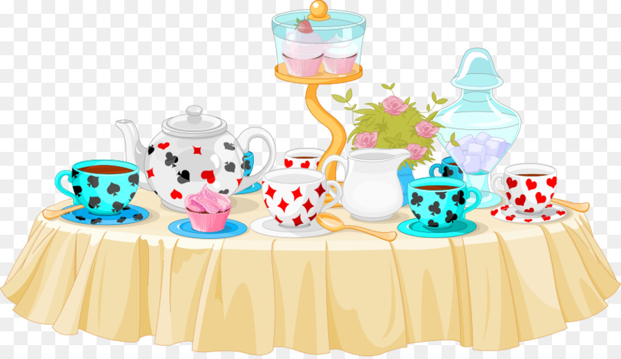 Tea Party Cupcake Clip Art Vector Table Material Png Download