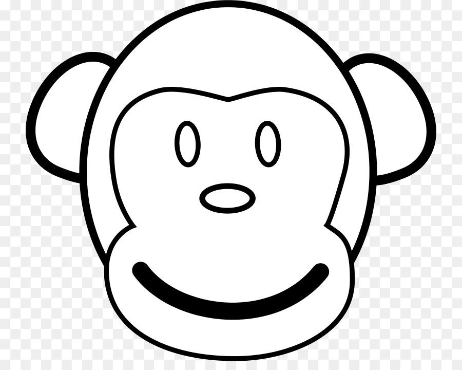 Baby Monkeys Coloring book Gorilla Sock monkey - Free Monkey ...