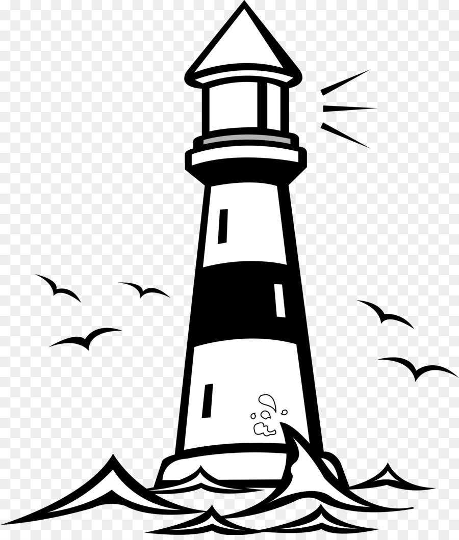 free content black and white clip art lighthouse building cliparts rh kisspng com Christian Lighthouse Clip Art Lighthouse Outline