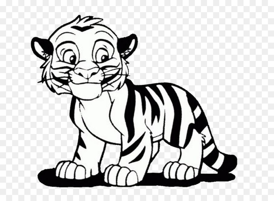 Bengal tiger Coloring book Lion Cuteness Child - tiger png download ...
