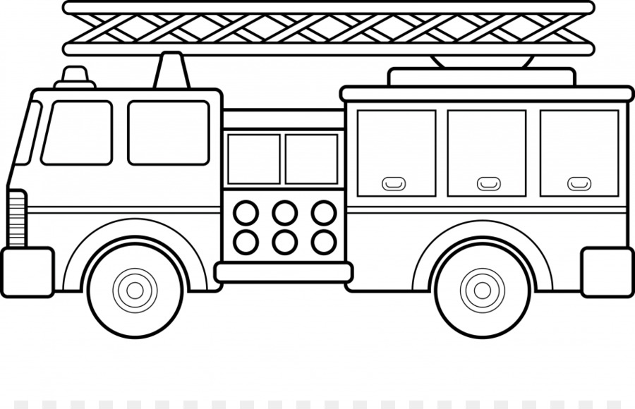 Araba Itfaiye Aracı Boyama Kitabı Itfaiyeci Kamyon Karikatür